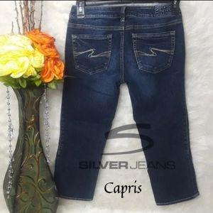 Silver Jean Capris Aiko 29